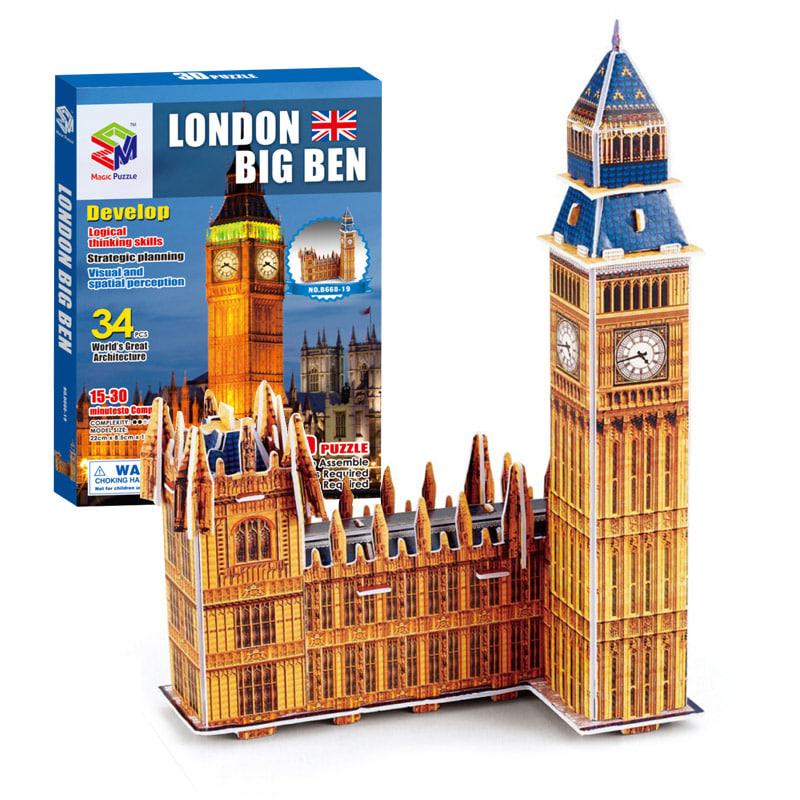 (초급) 런던 빅벤(34pcs) 세계 유명 건축물 시리즈