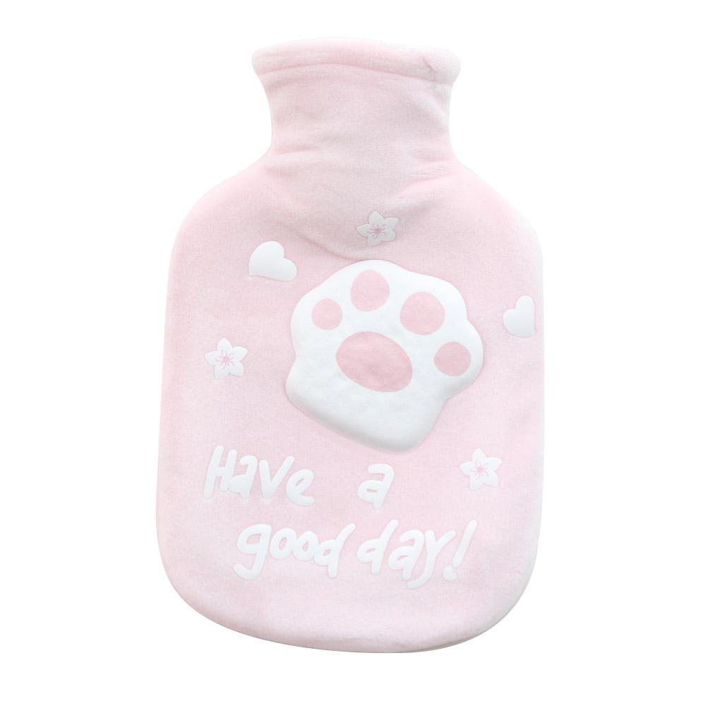 뽀송커버형 핫팩 물주머니 찜질팩 350ml-핑크