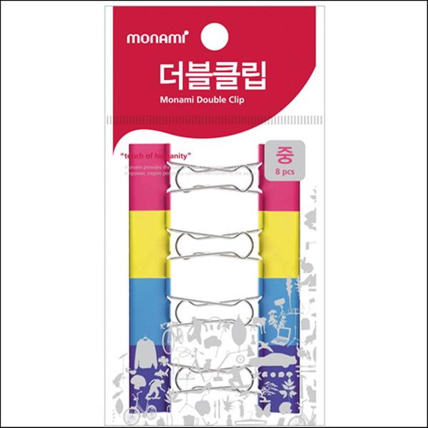 모나미/더블크립(걸이형/중/8개)