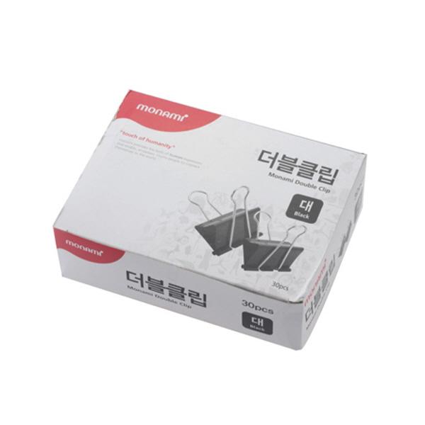 모나미/더블크립/흑색/대(41mm)/30개
